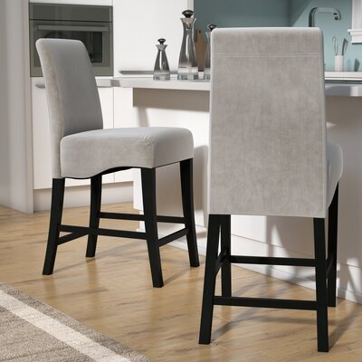 Lazarus 24 Bar Stool Upholstery: Grey