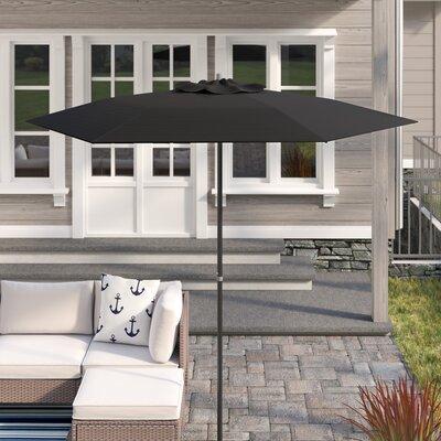 Smithmill 7.5 Deluxe Beach Umbrella Fabric: Black