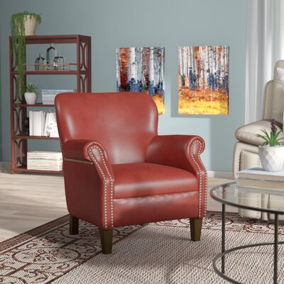 Keeter Armchair Upholstery: Red