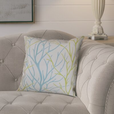 Eureka 100% Cotton Throw Pillow Color: Aqua / Green, Size: 18x18