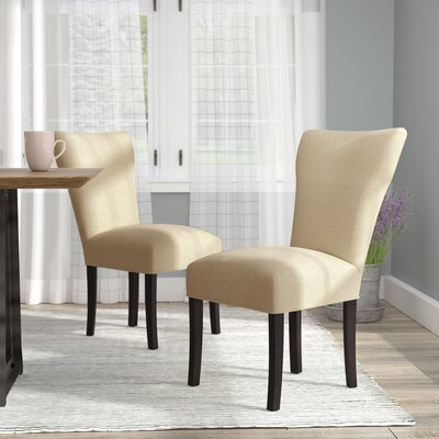 Salmon Allure Pebble Spring Seating Double Dow Upholstered Parsons Chair Upholstery: Pebble