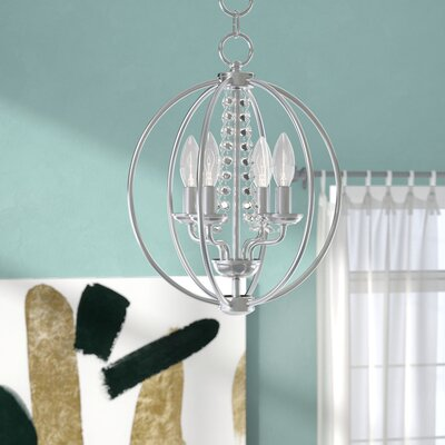 Artus 4-Light Globe Pendant Finish: Polished Chrome