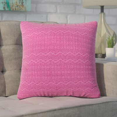 Forbell Cotton Throw Pillow (Set of 2) Color: Pink