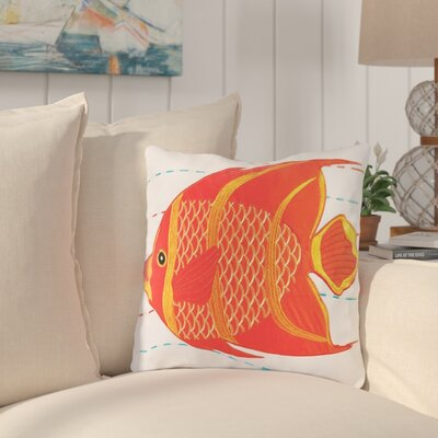 Fairlady Fish Cotton Throw Pillow