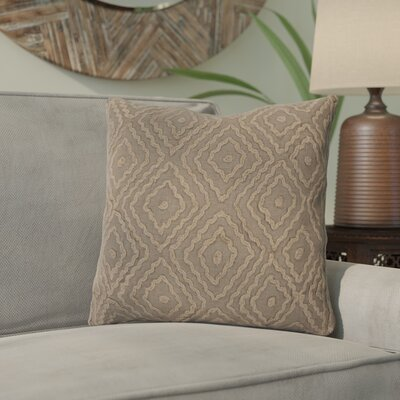 Marcos Diamond Throw Pillow Size: 20 H x 20 W x 4 D, Color: Slate Green / Olive Gray, Filler: Down