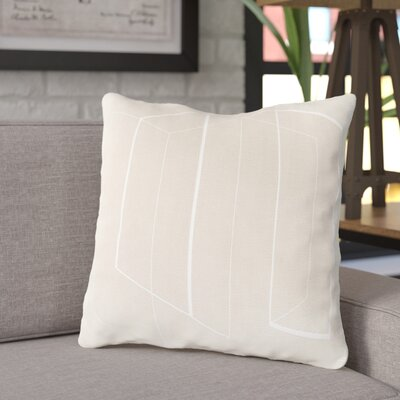 Ismay Throw Pillow Size: 18 H x 18 W x 4 D, Color: Tan, Filler: Down