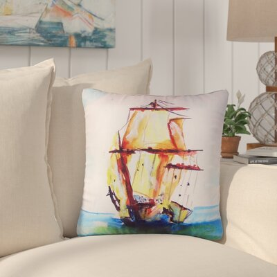 Pauline Tall Ship No Cord Outdoor Throw Pillow