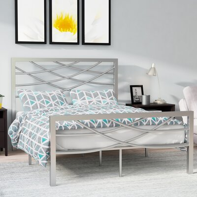 Castile Metal Platform Bed Size: Queen