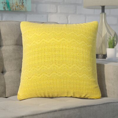 Forbell Cotton Throw Pillow (Set of 2) Color: Yellow