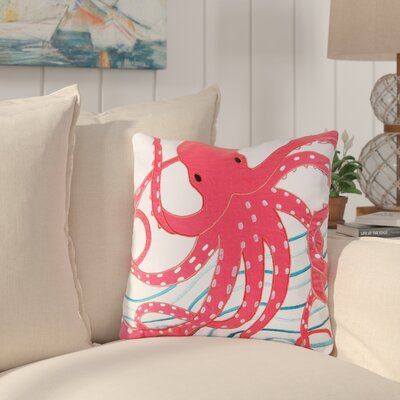 Portwood Octopus Cotton Throw Pillow