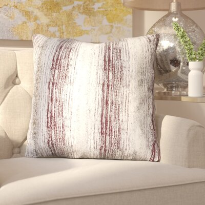 Ascot Place Metallic Jacquard Throw Pillow Color: Oxblood Gold