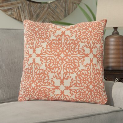 York Coral Throw Pillow