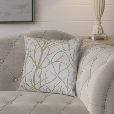Eureka 100% Cotton Throw Pillow Color: Toffee, Size: 18x18