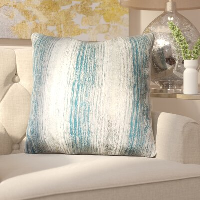 Ascot Place Metallic Jacquard Throw Pillow Color: Dragonfly Blue Gold