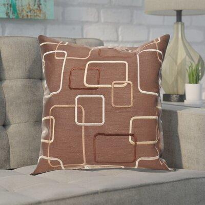 Somerset Throw Pillow Color: Chocolate