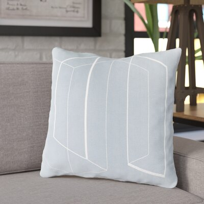 Ismay Throw Pillow Size: 20 H x 20 W x 4 D, Color: Light Gray, Filler: Down
