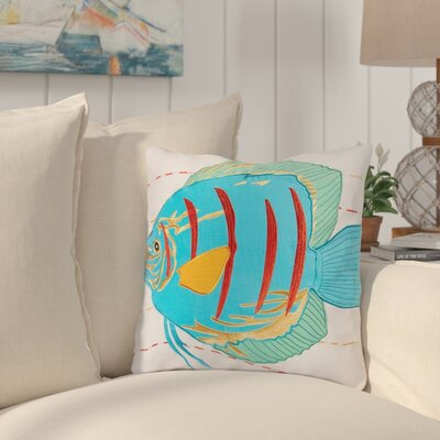 Flossflower Fish Cotton Throw Pillow