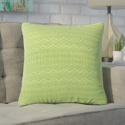 Forbell Cotton Throw Pillow (Set of 2) Color: Green