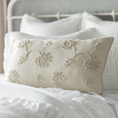 Delincourt 100% Cotton Lumbar Pillow Color: White
