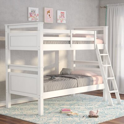 Jalyn Twin over Twin Bunk Bed Color: White