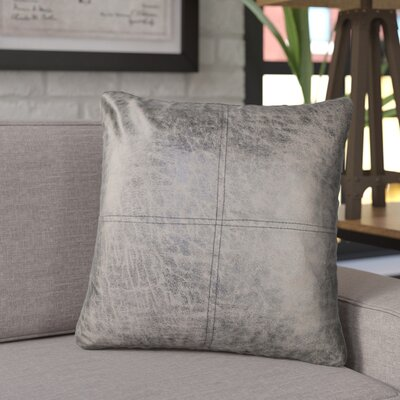 Kala Fun Leather Throw Pillow