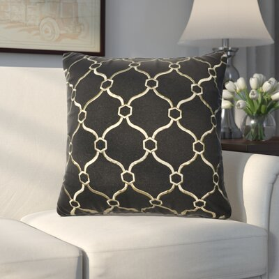 Allsop Decorative Throw Pillow Color: Black and Gold