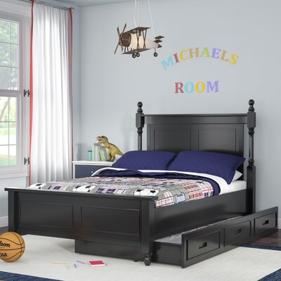 Belaview Platform Bed with Trundle Size: Twin, Color: Black