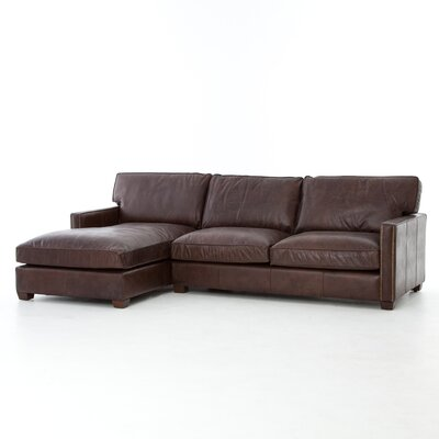 Selden Sectional Upholstery: Vintage Cigar