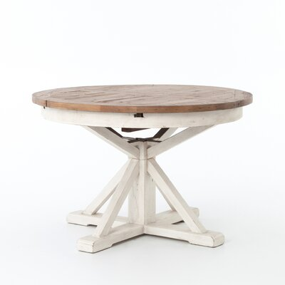 Mahon Extendable Dining Table Finish: Driftwood Natural/Limestone