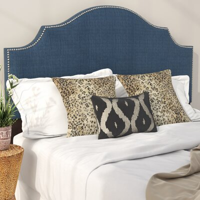 Eduard Nail Button Notched Upholstered Panel Headboard Size: Queen, Color: Patriot Blueberry