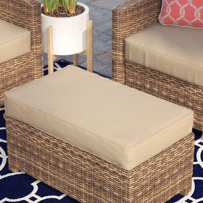 Outdoor Sunbrella Ottoman Cushion Fabric: Beige