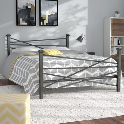 Carver Metal Platform Bed Finish: Charcoal, Size: Queen