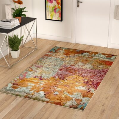 Chenango Rectangle Orange/Pink Area Rug Rug Size: Rectangle 9 x 12