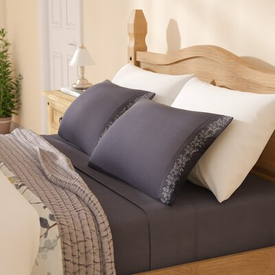 Garrick Microfiber Duvet Sheet Set Size: Full, Color: Charcoal