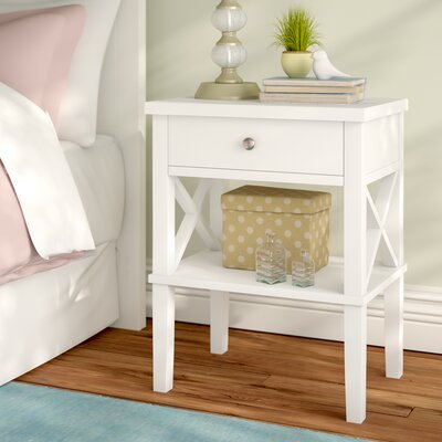 Silvestri 1 Drawer Nightstand Color: White