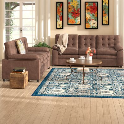 Fitzgerald 2 Piece Living Room Set Color: Brown