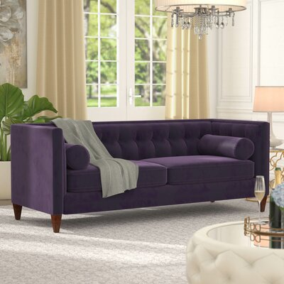 Harcourt Chesterfield Sofa Upholstery: Purple