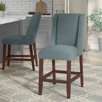 Granderson 25.75 Bar Stool Upholstery: Blue