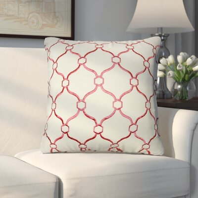 Allsop Decorative Throw Pillow Color: Cream and Dark Pink
