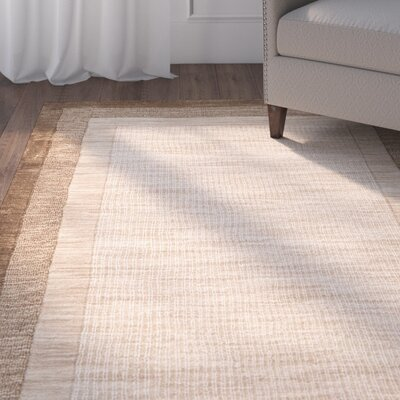 Dashiell Hand-Loomed Beige/Brown Area Rug Rug Size: Rectangle 76 x 96