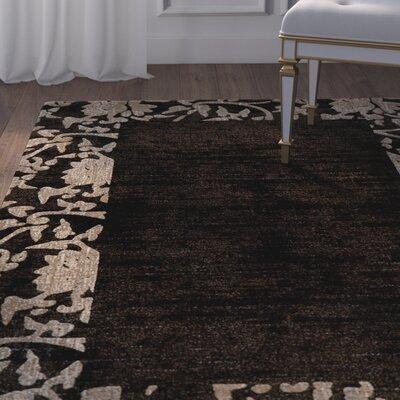 Rochelle Charcoal Area Rug Rug Size: 710 x 910