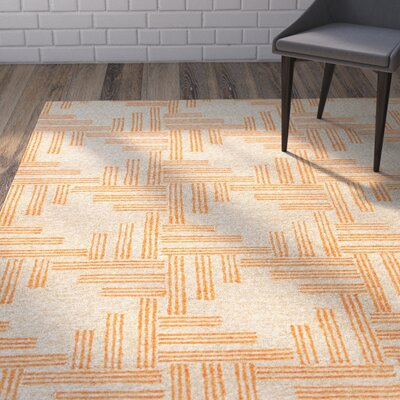 Helfer Tan/Orange Indoor/Outdoor Area Rug Rug Size: Rectangle 76 x 96