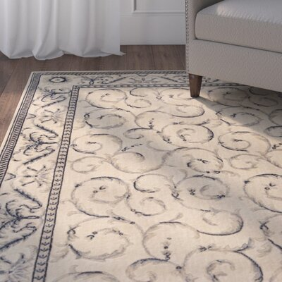 Dalrymple Ivory/Blue Area Rug Rug Size: Rectangle 2 x 29