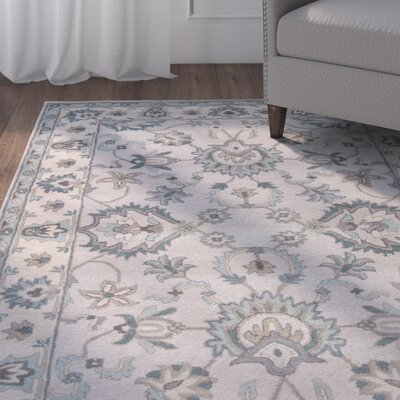 Blake Hand-Tufted Taupe/Blue Area Rug Rug Size: Rectangle 2 x 3