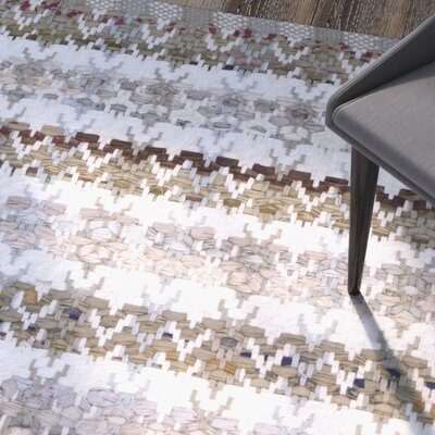 Ingleside Hand-Woven Beige/Gray Area Rug Rug Size: Rectangle 26 x 4