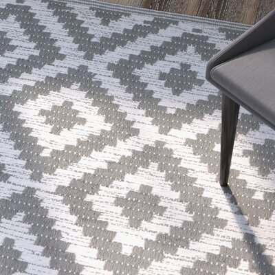 Lavallee Hand-Woven Gray/Ivory Area Rug Rug Size: Rectangle 3 x 5