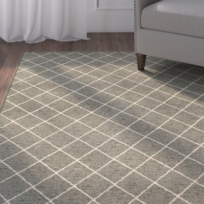 Decaro Gray/Ivory Trellis Area Rug Rug Size: Rectangle 53 x 76