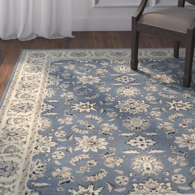 Northgate Greyblue Area Rug Rug Size: Rectangle 55 x 77