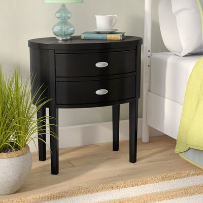 Rossiter 2 Drawer Nightstand Color: Black