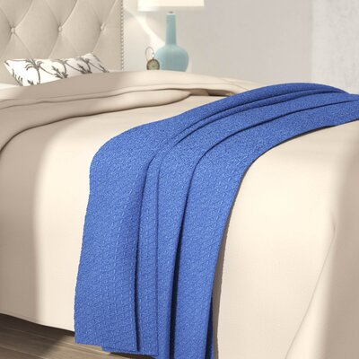 Greene Classic All Seasons Super Soft Lightweight Cotton Blanket Color: Navy, Size: Queen